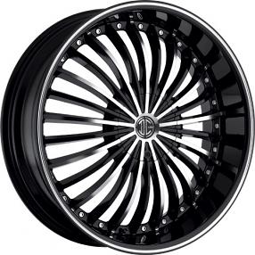 "20x8.5"" 2Crave Wheels No.13 Black Diamond Glossy Black Rims"