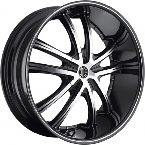 "20"" 2Crave Wheels No.21 Diamond Glossy Black Rims"