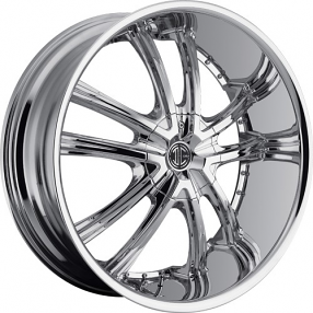 "20"" 2Crave Wheels No.21 Chrome Rims"