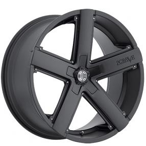"20x8.5"" 2Crave Wheels No.35 Satin Black Rims"