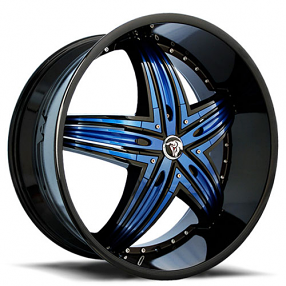 """24"""" Diablo Wheels Rage Custom Color Rims"""