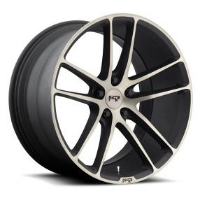 "20"" Niche Wheels M115 Enyo Black Machined Rims"