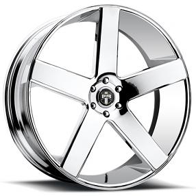 """22x8.5"""" Dub Wheels Baller S115 Chrome Rims"""