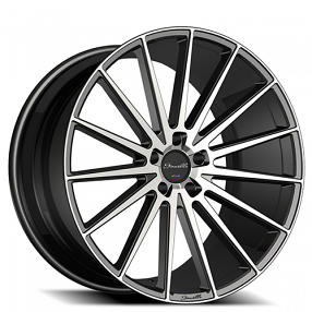 "20"" Staggered Giovanna-Gianelle Wheels Verdi Black Machied Rims"