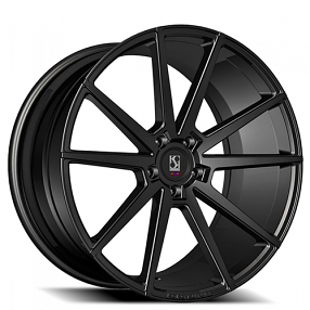 "20"" Staggered Giovanna-Koko kuture Wheels Le Mans Black Rims"