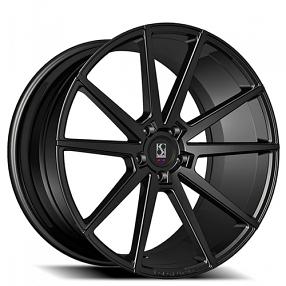 "20"" Staggered Giovanna-Koko kuture Wheels Le Mans Black Rims"