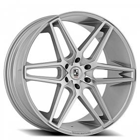 "24"" Giovanna-Gianelle Wheels Dacono Silver Machined Rims"