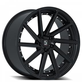 "20"" Staggered Giovanna-Koko kuture Wheels Surrey Black Rims"