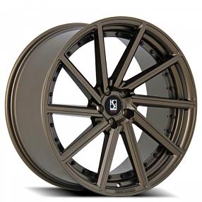 "20"" Staggered Giovanna-Koko kuture Wheels Surrey Bronze Rims"