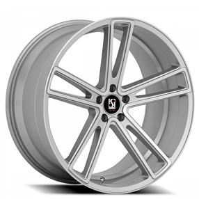 "20"" Staggered Giovanna-Koko kuture Wheels Massa-5 Silver Machined Rims"