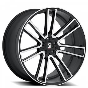 "20"" Staggered Giovanna-Koko kuture Wheels Massa-7 Black Machined Rims"