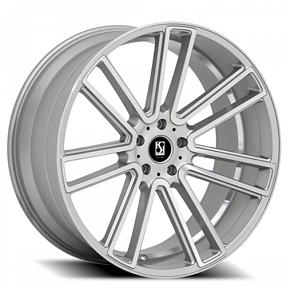 "20"" Staggered Giovanna-Koko kuture Wheels Massa-7 Silver Machined Rims"