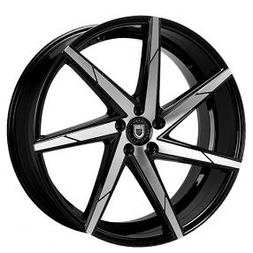 "17"" Lexani Wheels CSS-7 Black Machined Rims"
