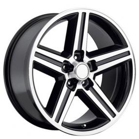 "20"" IROC Wheels Black Machined 5-lugs Rims"