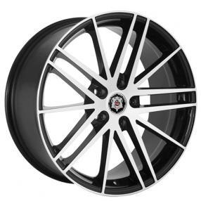 "20x8.5"" Versante-Sevizia Wheels SE432 Black Machined Rims"
