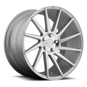 """19"""" Staggered Niche Wheels M112 Surge Silver Macined Rims"""