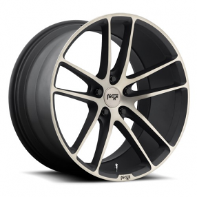 """20"""" Staggered Niche Wheels M115 Enyo Black Machined Rims"""