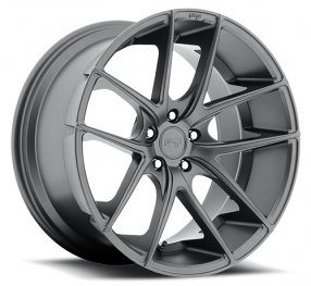 "20"" Staggered Niche Wheels M129 Targa Anthracite Rims"