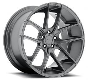 "20"" Staggered Niche Wheels M129 Targa Anthracite Rims"