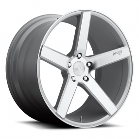 "20"" Staggered Niche Wheels M135 Milan Silver Rims"