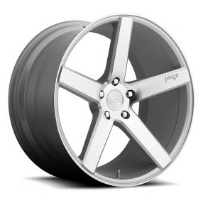 "22"" Staggered Niche Wheels M135 Milan Silver Rims"