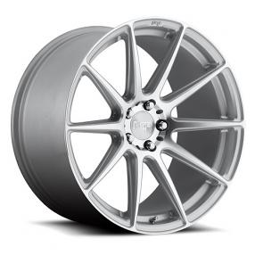 """19"""" Staggered Niche Wheels M146 Essen Silver Machined Rims"""