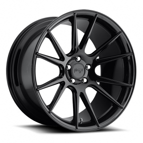 "20"" Staggered Niche Wheels M152 Vicenza Gloss Black Rims"