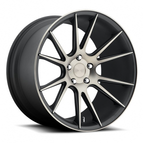 "20"" Staggered Niche Wheels M153 Vicenza Black Machined Rims"