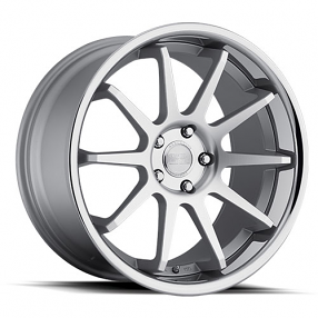 "20"" Staggered Concept One Wheels CS-10 Executive Matte Silver Rims"