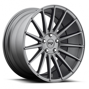 "22"" Staggered Niche Wheels M157 Form Charcoal Rims"