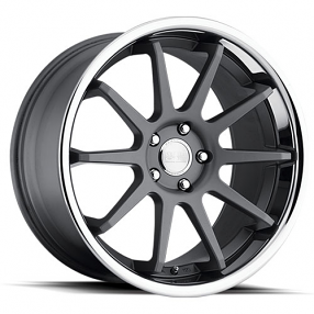 "20"" Staggered Concept One Wheels CS-10 Executive Matte Gunmetal Rims"