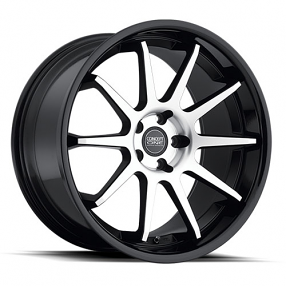 "20"" Staggered Concept One Wheels CS-10 Executive Black Machined Rims"