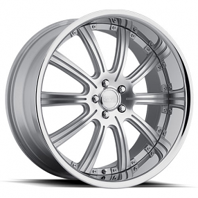 "20"" Staggered Concept One Wheels RS-10 Executive Silver Machined Rims"