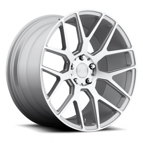 "22"" Staggered Niche Wheels M160 Intake Silver Machined Rims"