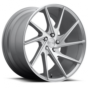 "20"" Staggered Niche Wheels M162 Invert Silver Machined Rims"
