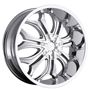 "26"" VCT Wheels Godfather Chrome Huge Size Lip Rims"