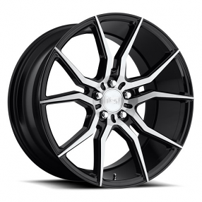 "20"" Staggered Niche Wheels M166 Ascari Black Brush Rims"