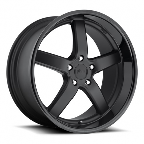 "20"" Staggered Niche Wheels M173 Pantano Black W Black Lip Rims"