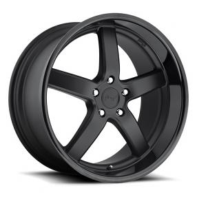 "20"" Staggered Niche Wheels M173 Turin Black W Black Lip Rims"