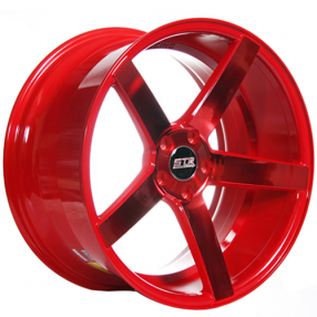 "20"" Staggered STR Wheels 607 Neon Red Rims"