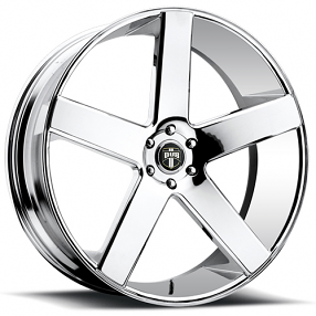 "22"" Staggered Dub Wheels Baller S115 Chrome Rims"
