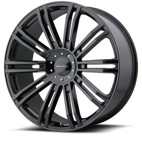 "26"" KMC Wheels KM677 D2 Gloss Black Rims"