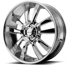 """22"""" KMC Wheels KM673 Skitch Chrome Rims"""