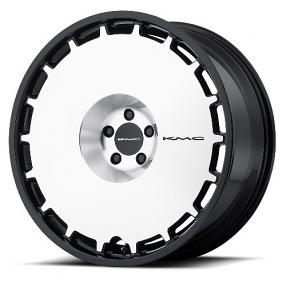 "24"" KMC Wheels KM689 Skillet Gloss Black Machined Rims"