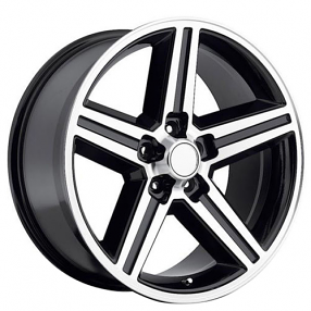 "22"" IROC Wheels Black Machined 5-lugs Rims"