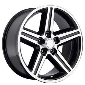 "22"" IROC Wheels Black Machined 5-lugs Rims"