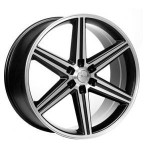 "24"" IROC Wheels Black Machined 6-lugs Rims"