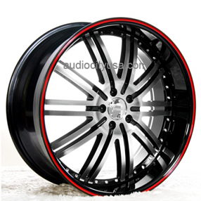 "24"" Versante Wheels VE212 Custom Painted Stripe Rims Different Colors Available"
