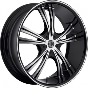 "22""  2Crave Wheels No.2 Black Diamond Glossy Black Rims"