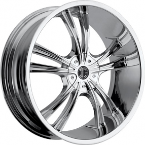 "22""  2Crave Wheels No.2 Chrome Rims"